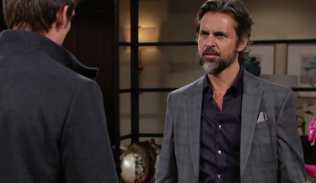 Simon and Adam negotiate Young and Restless