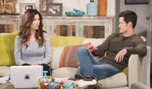 Steffy and Thomas talk Bold and Beautiful