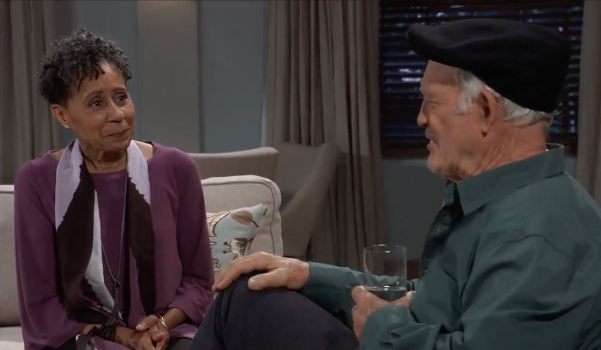 Stella visits Mike on General Hospital