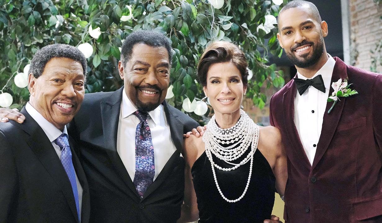 wedding photo of eli, abe, billy and hope