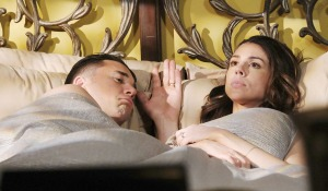 chad in bed with upset abigail days of our lives