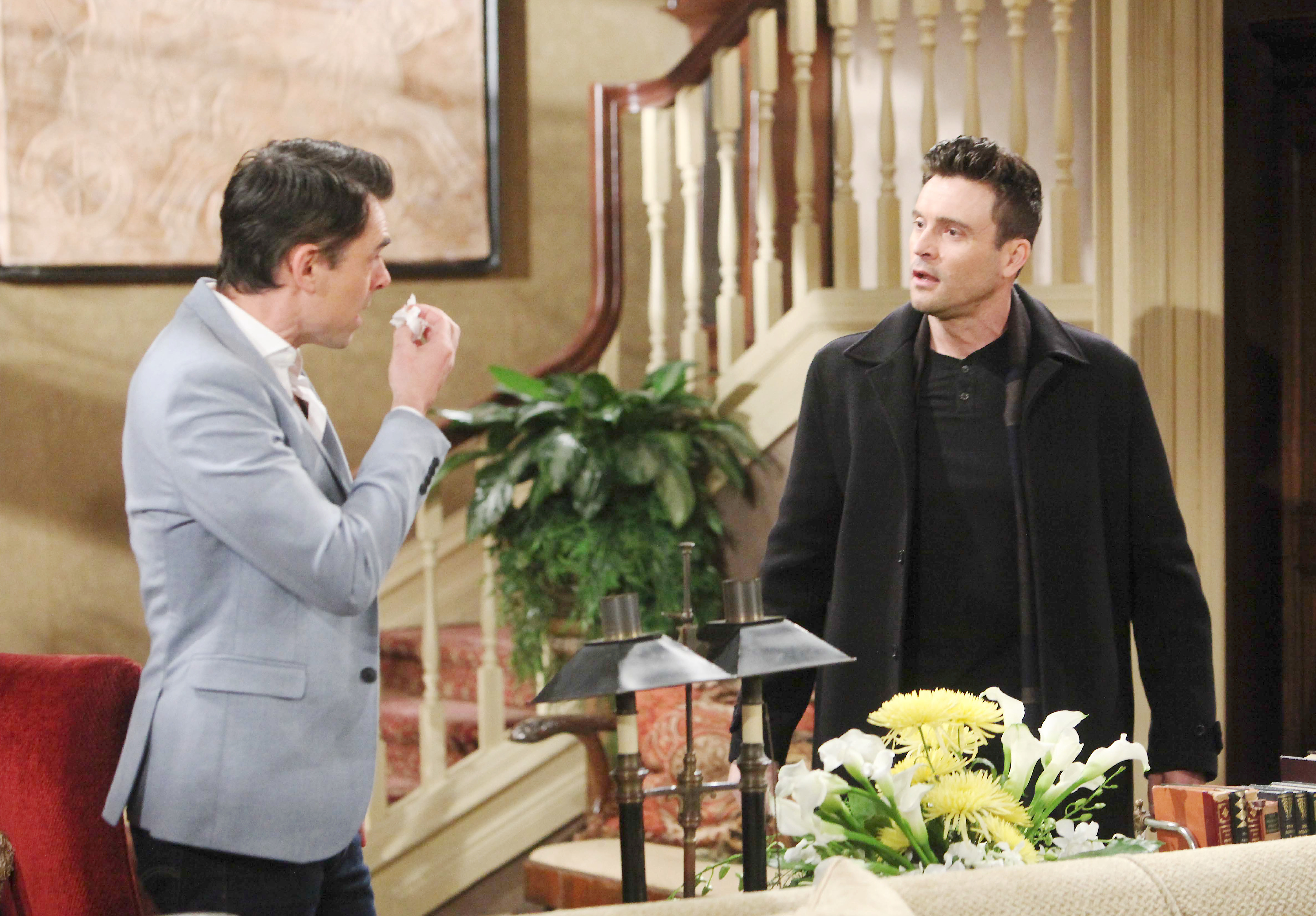"Daniel Goddard, Jason Thompson""The Young and the Restless"" Set CBS television CityLos Angeles12/11/18© Howard Wise/jpistudios.com310-657-9661Episode # 11607U.S. Airdate 01/22/19"