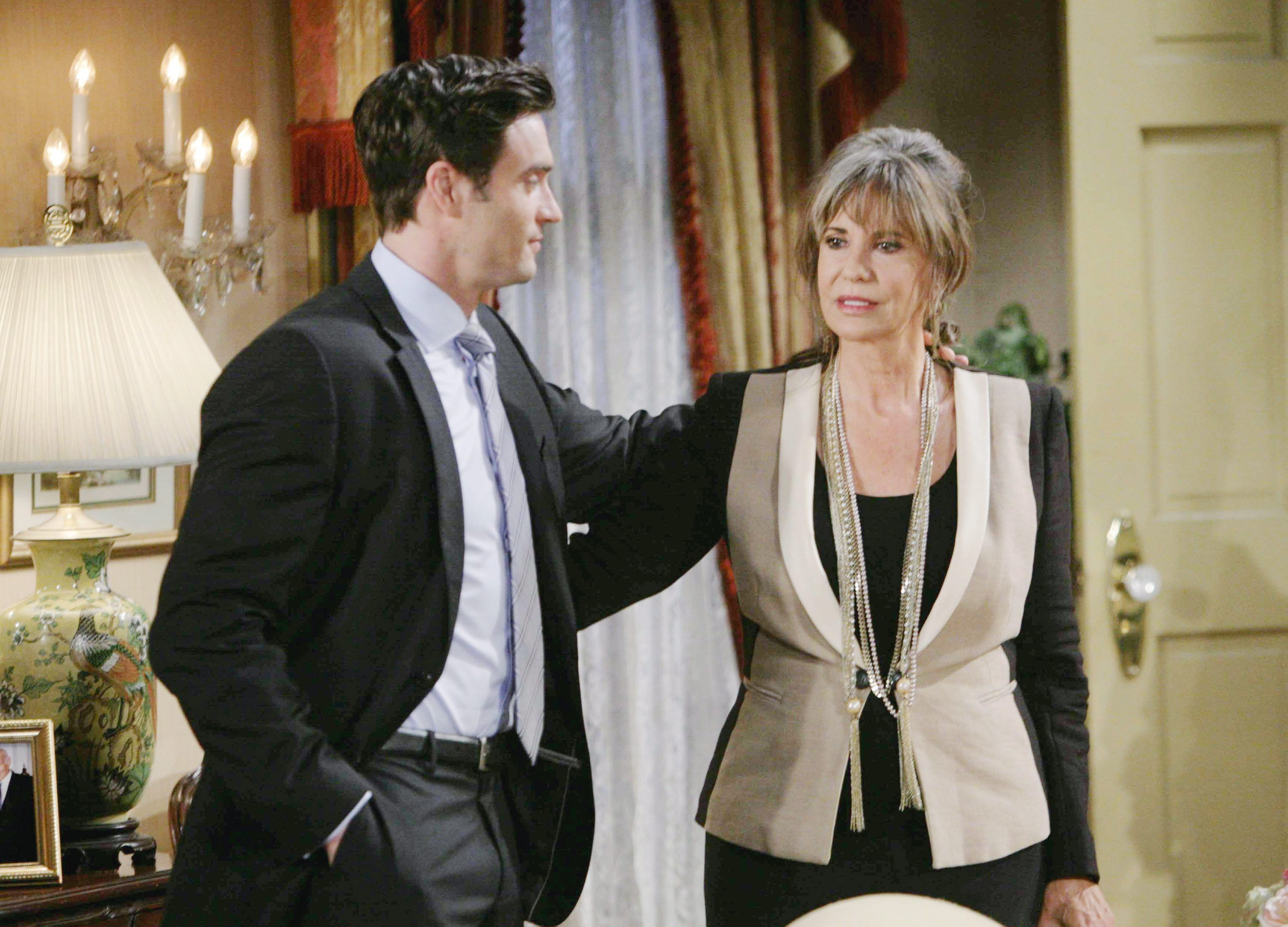 "Jess Walton, Daniel Goddard""The Young and the Restless"" Set CBS television CityLos Angeles07/01/13© Howard Wise/jpistudios.com310-657-9661Episode # 10224U.S. Airdate 08/16/13"