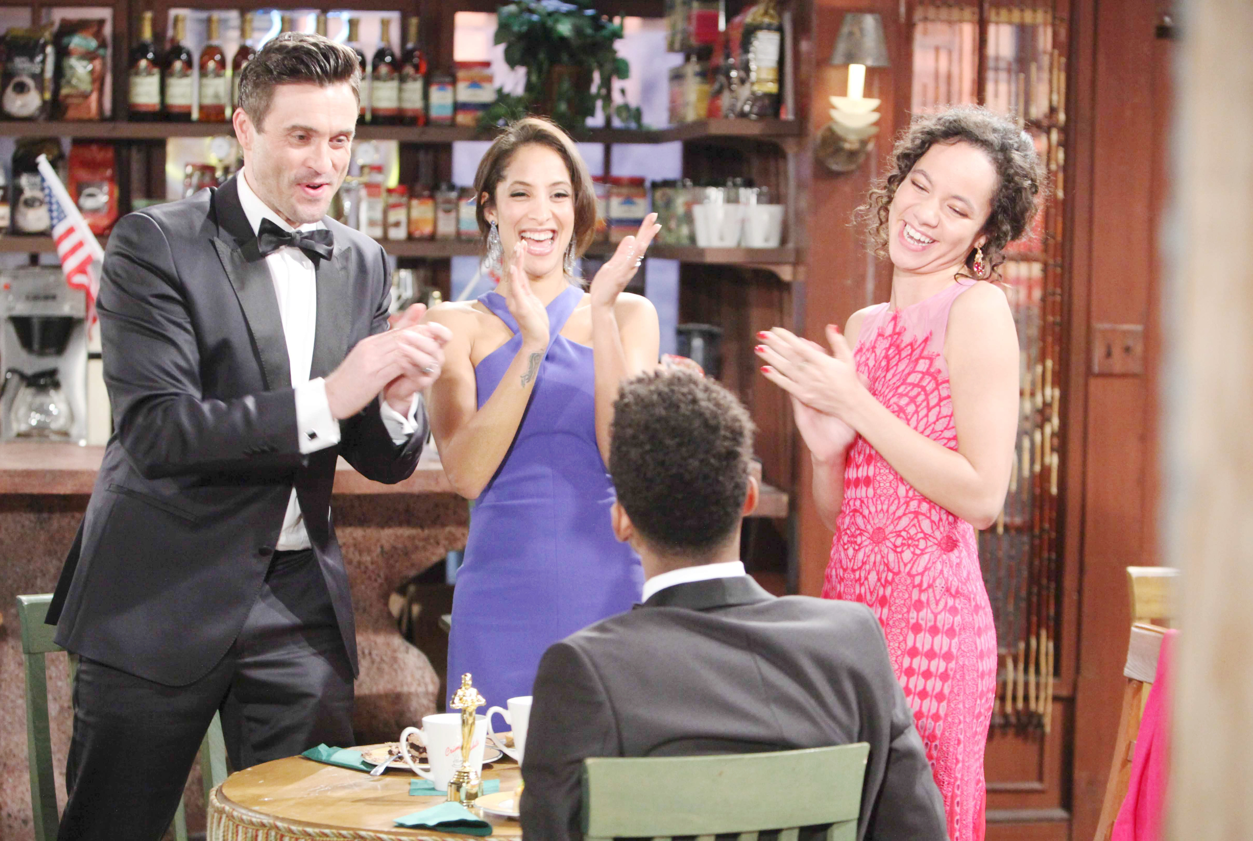 "Daniel Goddard, Christel Khalil, Noah ALexander Gerry, Lexie Stevenson""The Young and the Restless"" Set CBS television CityLos Angeles04/04/18© Howard Wise/jpistudios.com310-657-9661Episode # 11426U.S. Airdate 05/09/18"
