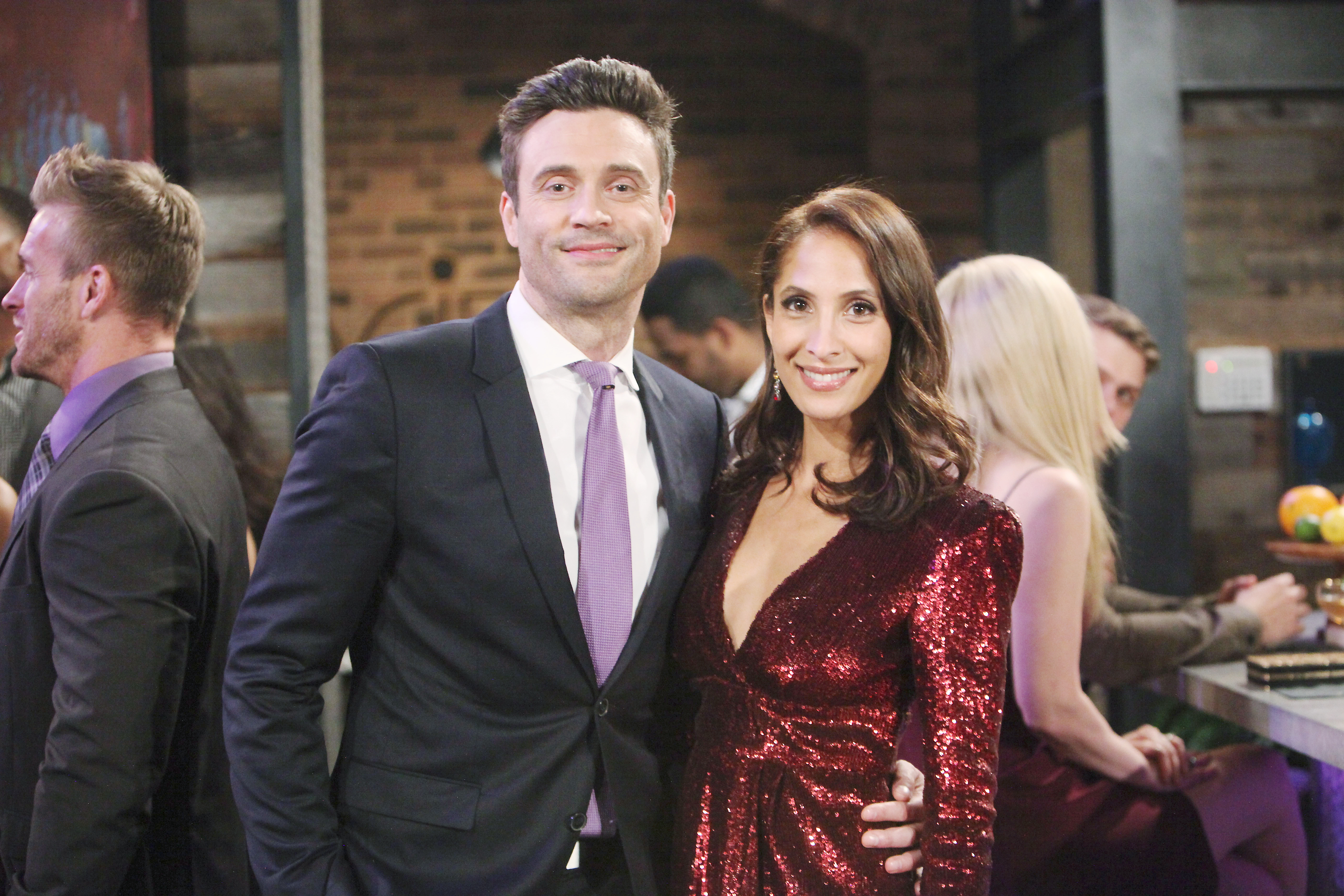 "Daniel Goddard, Christel Khalil""The Young and the Restless"" Set CBS television CityLos Angeles03/20/19© Howard Wise/jpistudios.com310-657-9661"