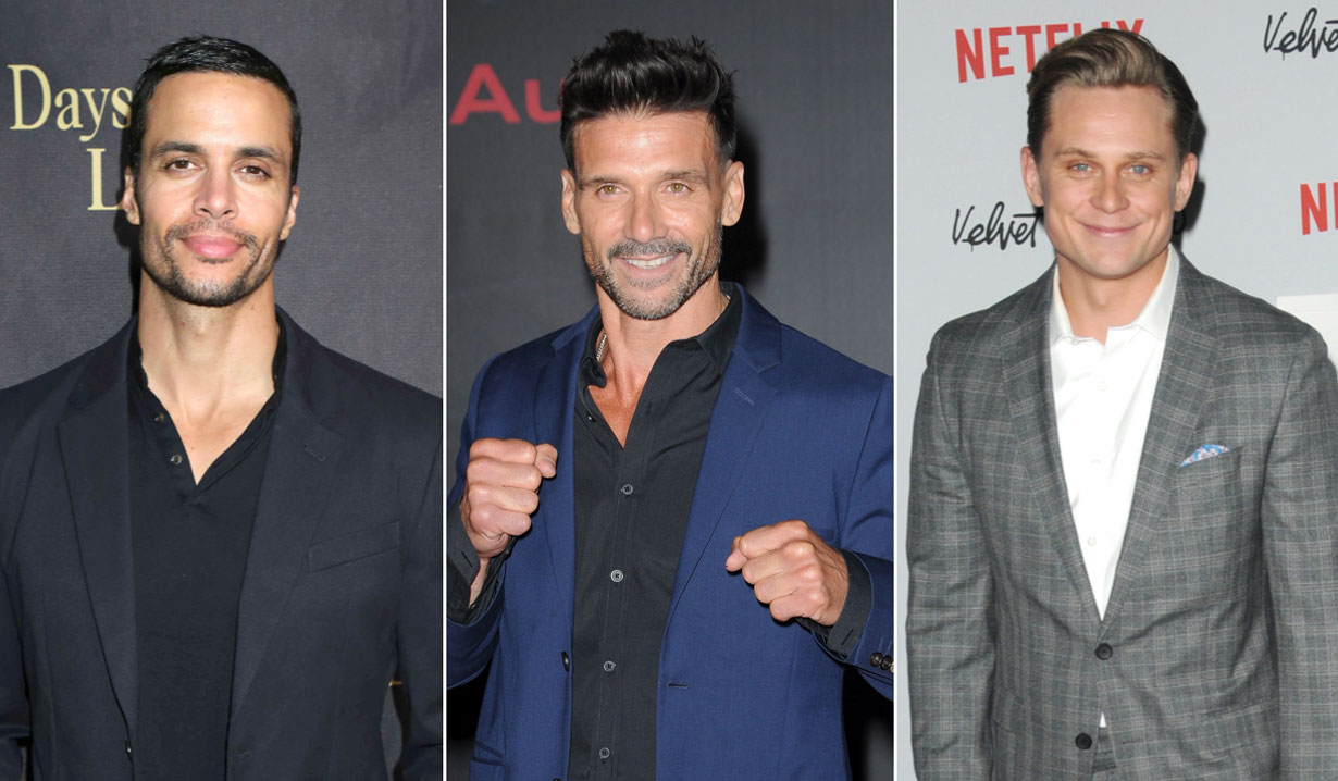 Matt Cedeno Frank Grillo and Billy Magnussen soap alums