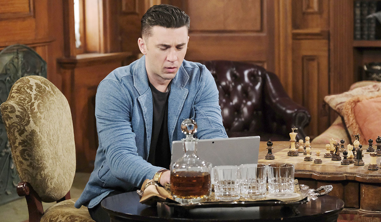 chad on his laptop days of our lives