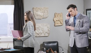 xander catches ciara in office days of our lives