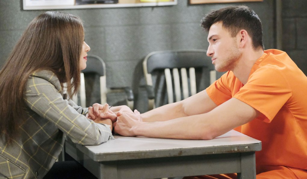 ciara visits ben in jail holds hands on days of our lives