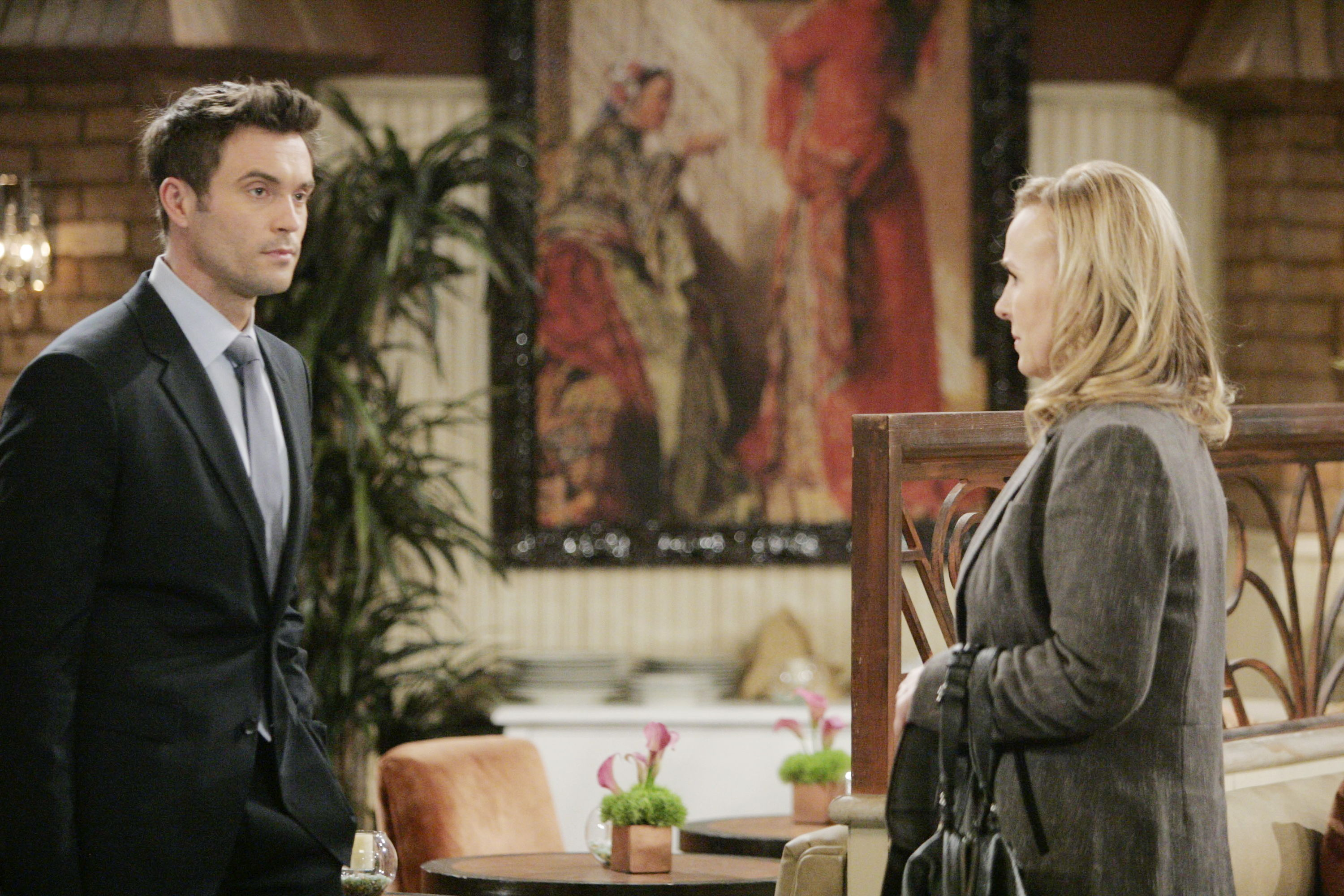 "Genie Francis, Daniel Goddard""The Young and the Restless"" Set CBS television CityLos Angeles02/09/12©sean smith/jpistudios.com310-657-9661Episode # 9863U.S. Airdate 03/13/12"