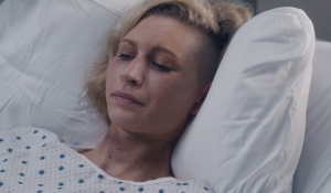 Daphne bruised in her hospital bed on Ambitions