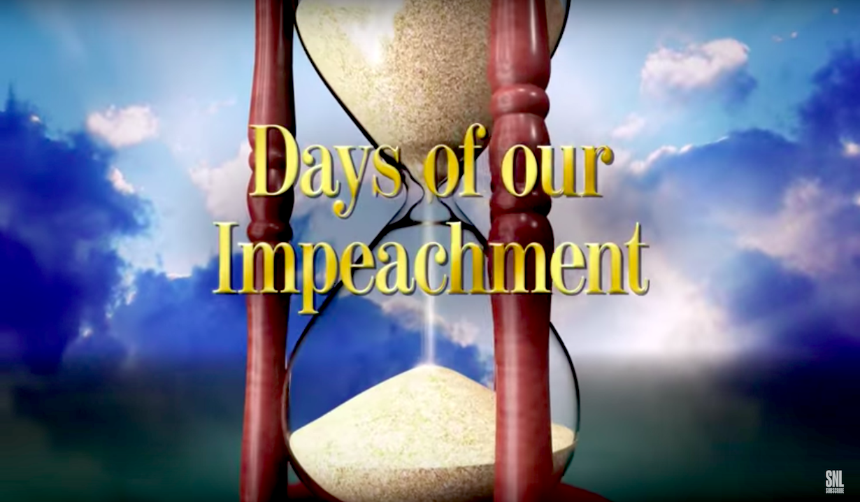 SNL Spoofs Soaps & impeachment Hearings