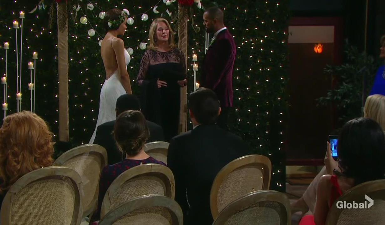 Marlena officiates Elani's wedding