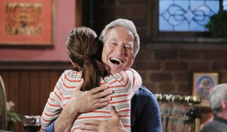 gina hugs john pub days of our lives
