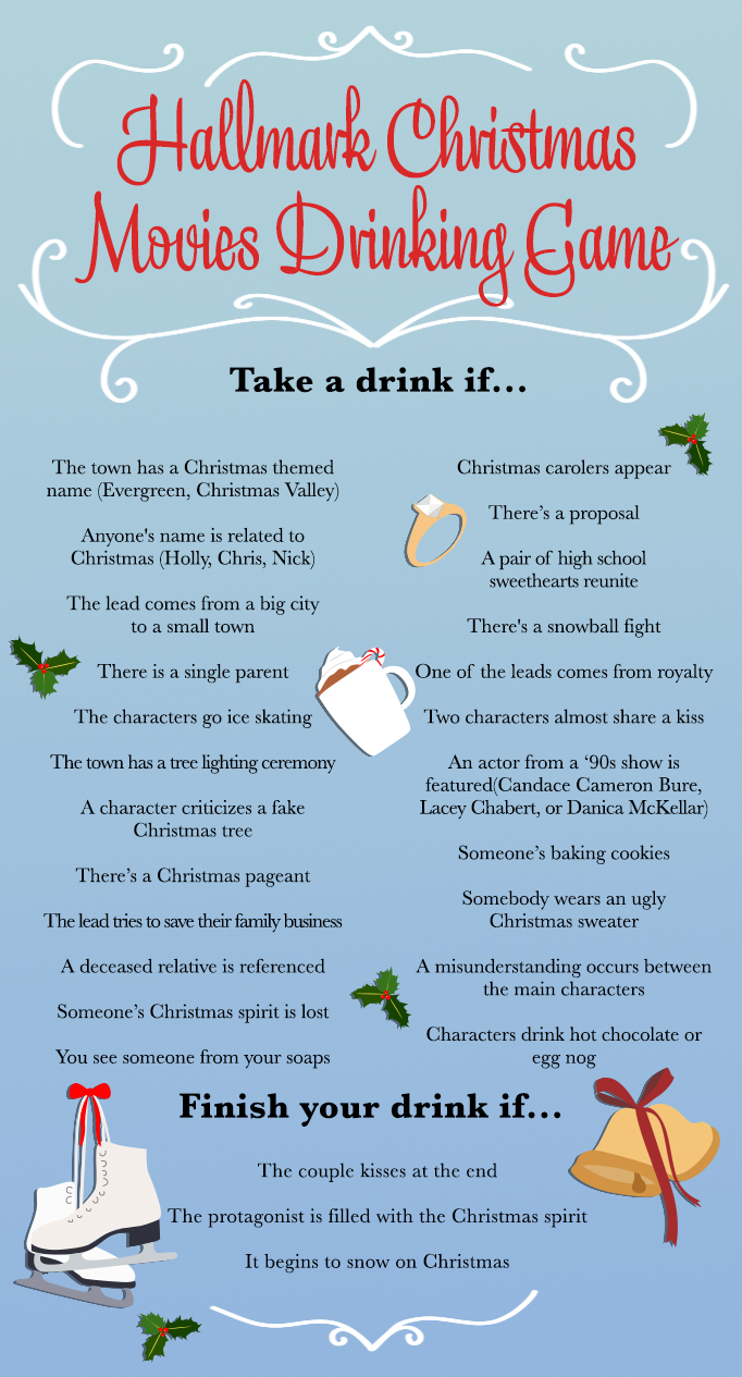 Hallmark christmas movie drinking game