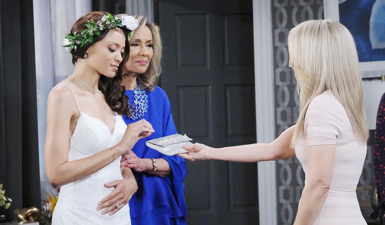 Jennifer gives Lani Alice's wedding purse