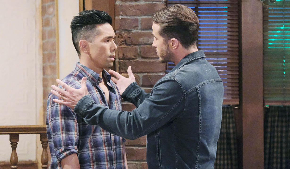 lucas confronts brad on general hospital