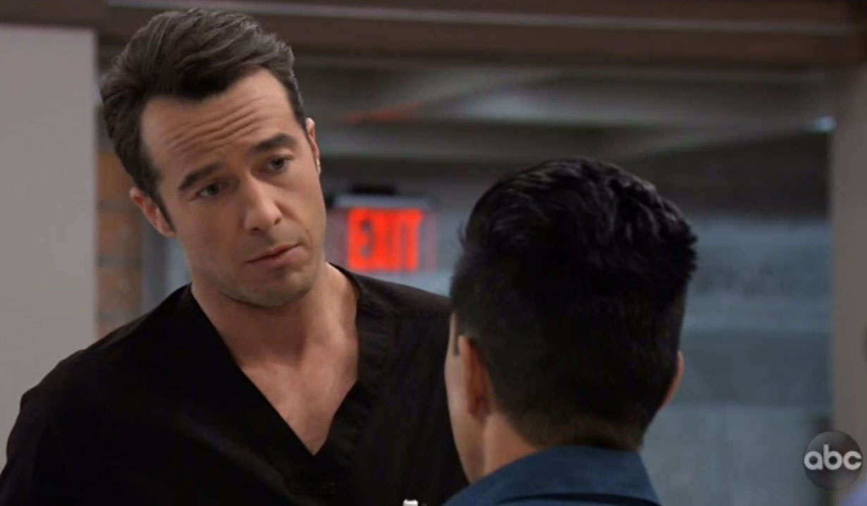 lucas knows brad is keeping a secret on general hospital