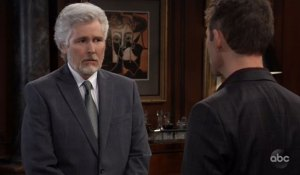 martin and valetin talk about helena's portrait on general hospital