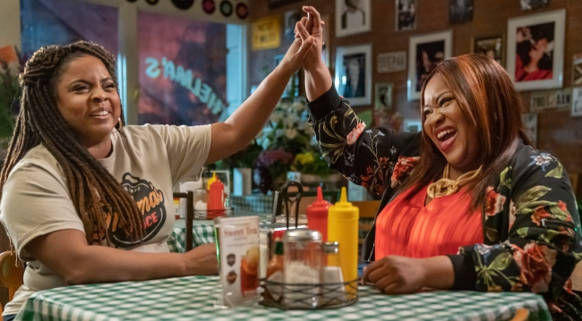 Rondell and Darcia high five on Ambitions