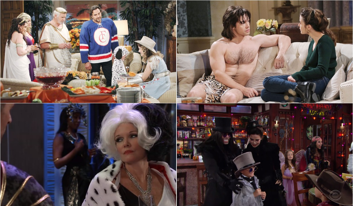 bold and beautiful days of our lives general hospital young and the restless roundup November 4