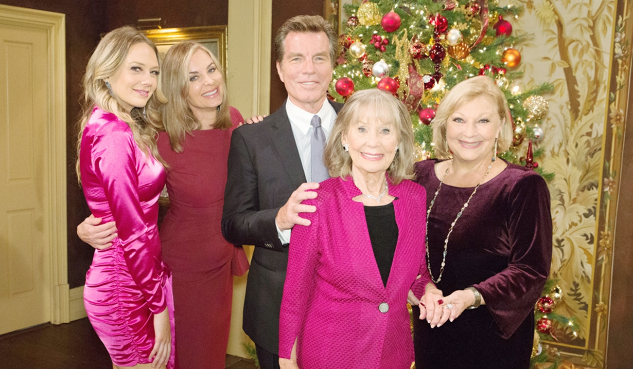 The Abbott family at Christmas 2019 Young and Restless