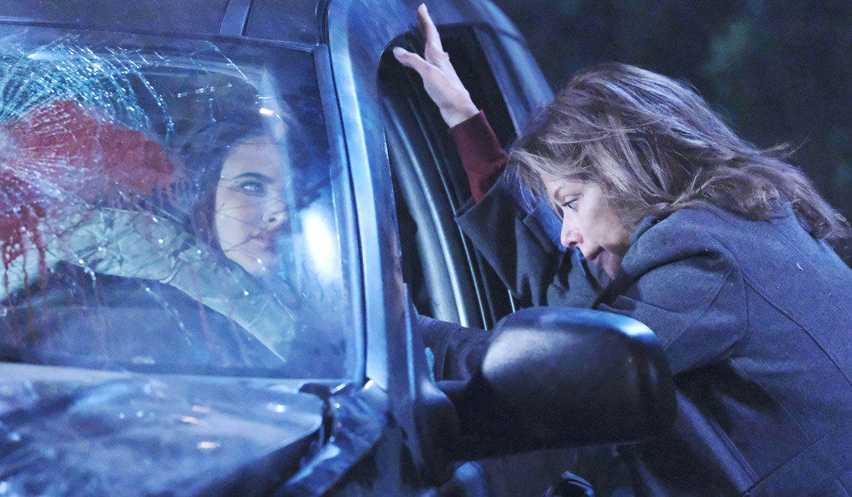Alexis checks on Kendra after crash on General Hospital
