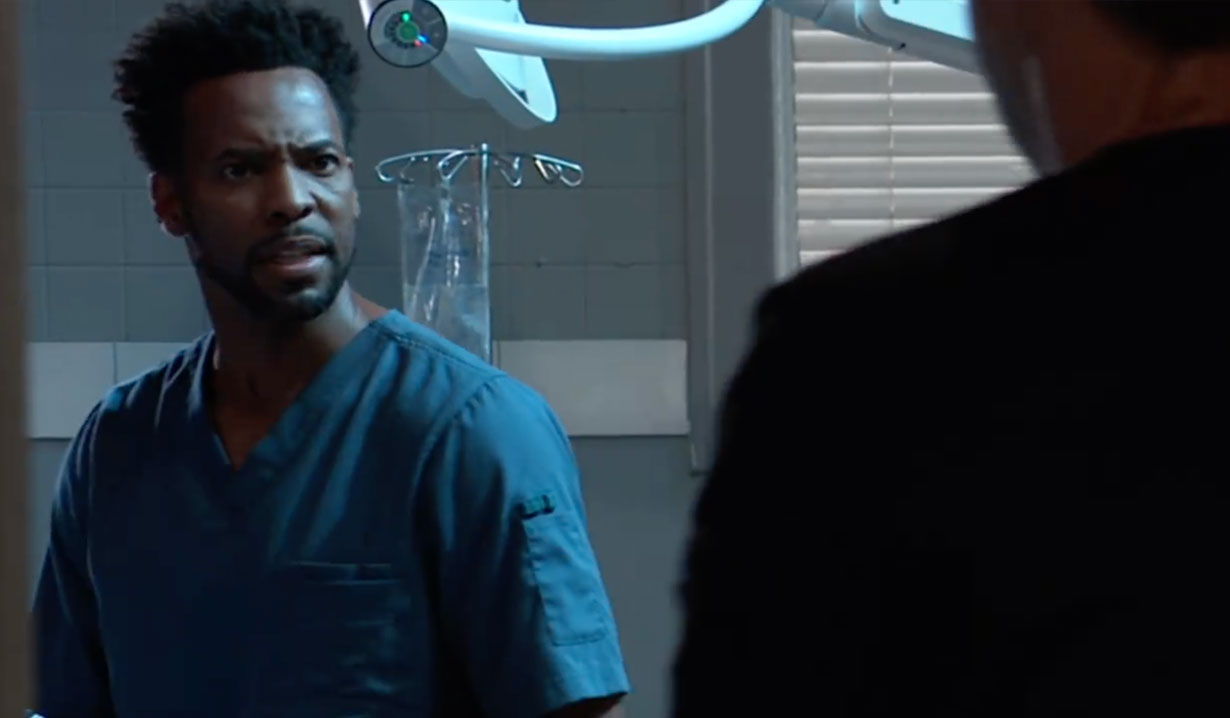 Gunman surprises Andre on General Hospital