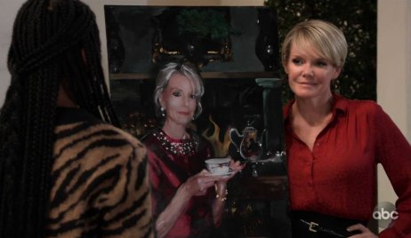 Ava auctions Helena's portrait on GH