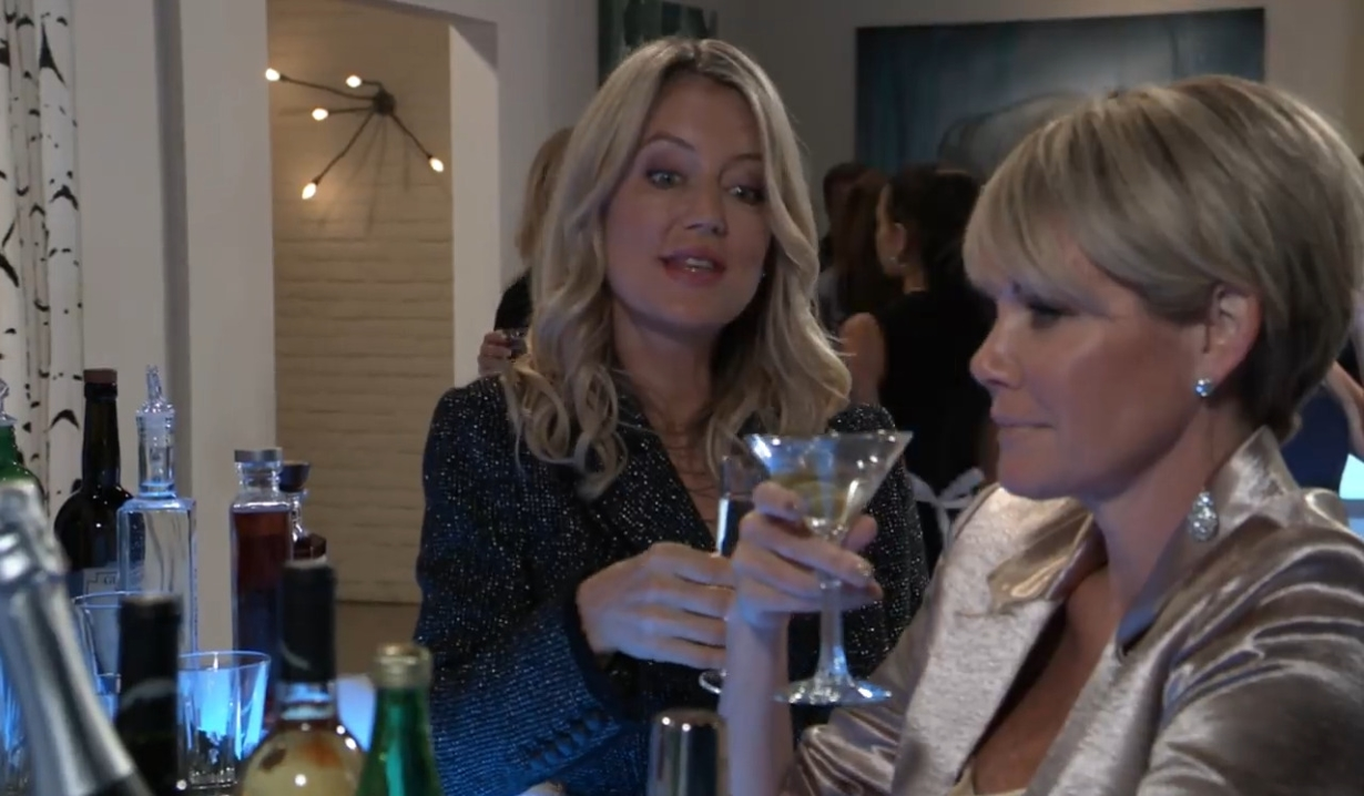 Ava and Nina toast in gallery General Hospital