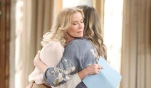 Brooke hugs Hope Bold and Beautiful