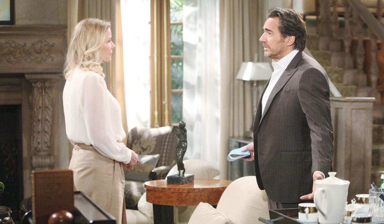 Brooke and Ridge talk divorce Bold and Beautiful