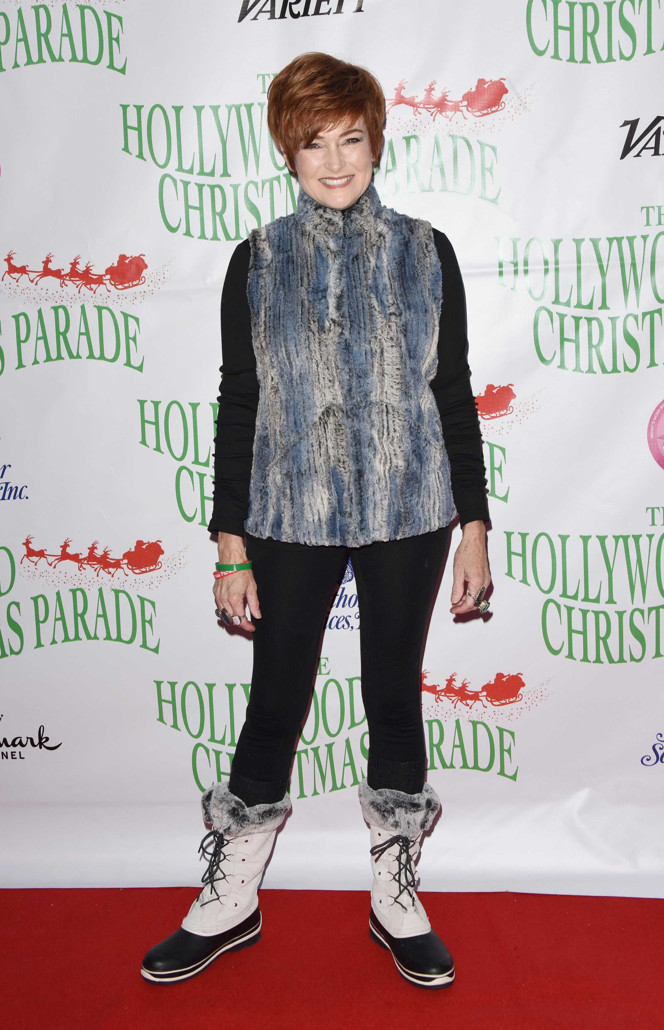 Carolyn Hennesy attends the 88th annual Hollywood Christmas Parade