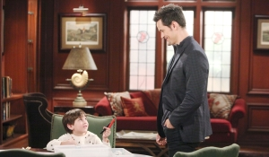 Douglas and Thomas interact at Forrester Creations Bold and Beautiful