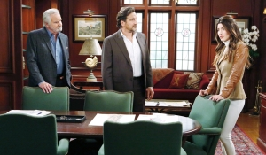 Eric, Ridge and Steffy debate Bold and Beautiful