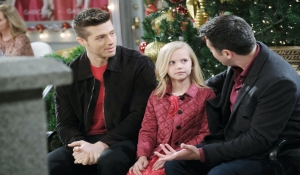 Sonny, Evan and Arianna in the square Days of our Lives