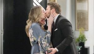 Hope kisses Liam Bold and Beautiful