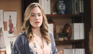 Hope thinks at Forrester Creations Bold and Beautiful