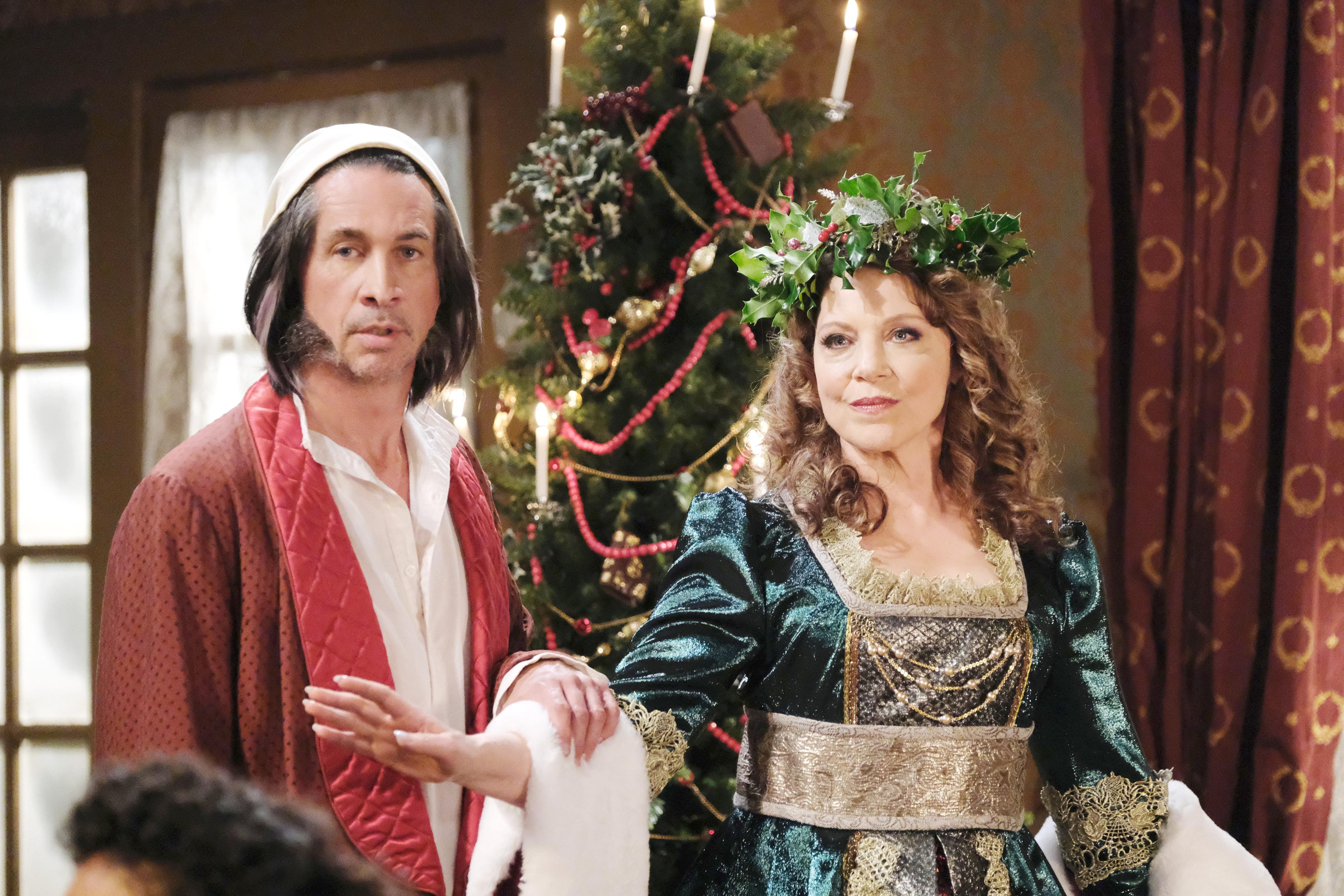 Michael Easton, Kathleen Gati General Hospital Ebenezer Scrooge A Christmas Carol episode