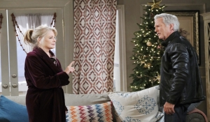 Hattie surprises John at home Days of our Lives