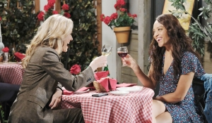Kristen and Lani toast Days of our Lives
