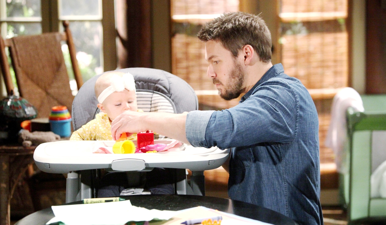 Liam plays with Beth on the Bold and Beautiful