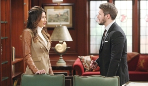 Liam makes a request of Steffy Bold and Beautiful