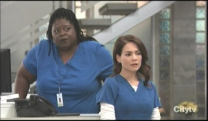 Liz and Epiphany watch Drew exit hospital General Hospital