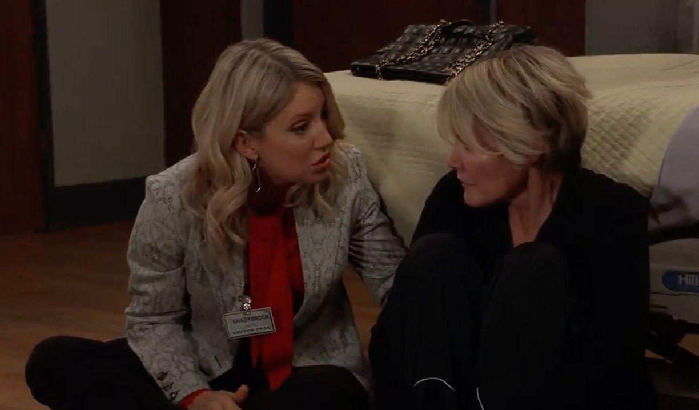 Nina visits Ava in the hospital on General Hospital