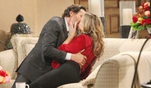 Ridge kisses Shauna at Forrester mansion Bold and Beautiful