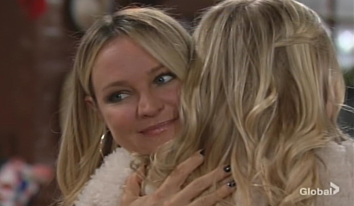 Sharon hugs Faith Young and Restless