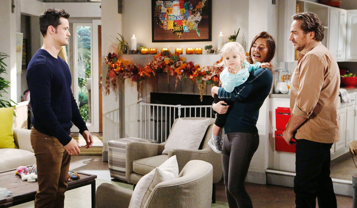 Thomas watches Steffy, Kelly and Ridge Bold and Beautiful