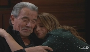 Victor hugs Summer Young and Restless