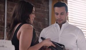 Bella shows Ignacio her business plan on Ambitions